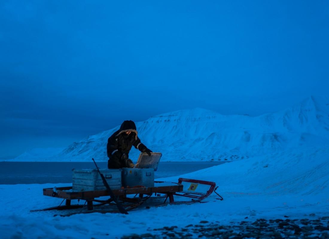 Coloni. Mirko è un italiano da parecchi anni alle Svalbard. Per lui, l'artico è casa: conosce ogni angolo dell'isola,  dal mare in canoa alle cime a piedi e con gli sci. Per lui, fare turismo sostenibile è ragione di vita.