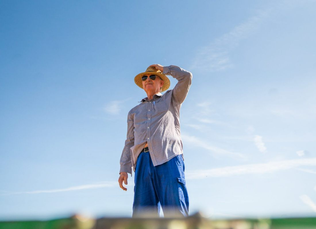 Adrian, uno dei contadini ad intraprendere questa nuova avventura. – Castilla de la Mancha